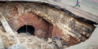 FOTO Cum arata catacombele de la Ramnicu Sarat descoperite in urma unei surpari
