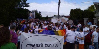 FOTO VIDEO Primul mars al comunitatii LGBTQ din capitala Transilvaniei