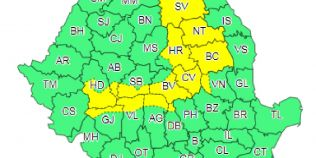 Cod galben de ninsori pentru zonele montane din 14 judete. ANM a emis si o informare de ploi, lapovita si vant