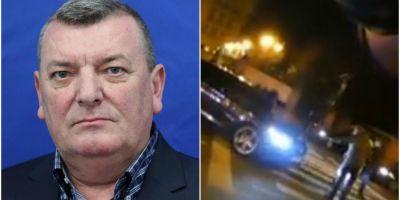 VIDEO Deputatul care a lovit cu masina doi protestatari in fata Parlamentului, acuzat de vatamare corporala. Imagini cu incidentul de pe trecerea de pietoni