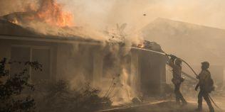 FOTO Cum s-au vazut din spatiu incendiile devastatoare din California