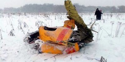 Prabusirea avionului Antonov in apropiere de Moscova,