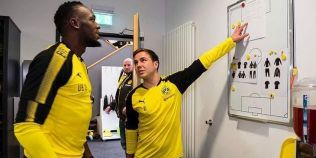 VIDEO Cat de bine s-a descurcat Usain Bolt la antrenamentele Borussiei Dortmund
