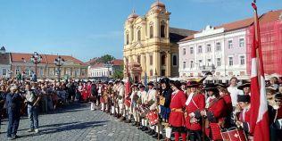 VIDEO Imagini spectaculoase, la Timisoara. Ritual al garzii de onoare a armatei imperiale, reluat dupa 300 de ani